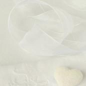 Ruban organdi blanc - Largeur 4 cm