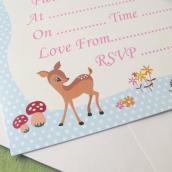 Cartes invitations Bambi Land