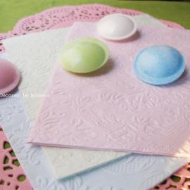 Serviettes baroques gaufrées rose pâle - 12 serviettes