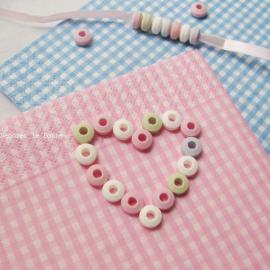 Serviettes vichy rose - 20 serviettes