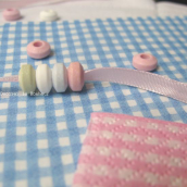Serviettes papier vichy bleu - 20 serviettes