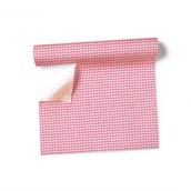 Chemin de table, set de table vichy rose - Rouleau 3m 60