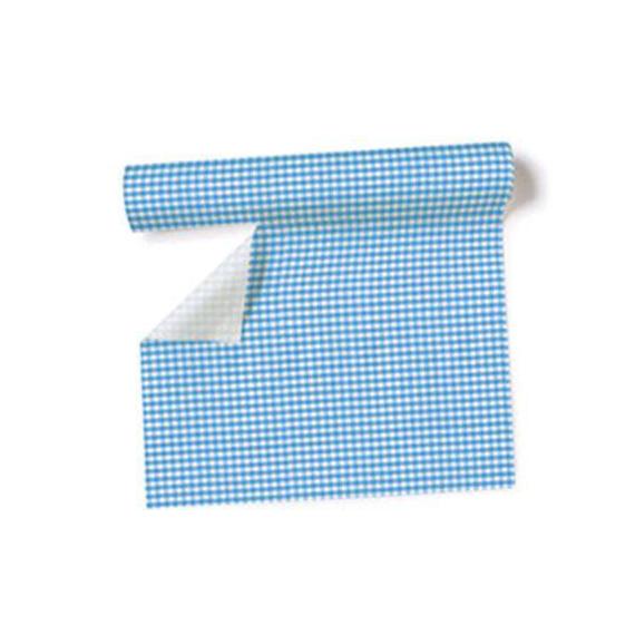 Decoration de table chemin de table vichy bleu for Nappe et chemin de table en papier