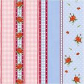 Serviettes papier happy roses - Lot de 20