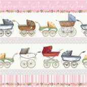 Serviettes papier Carosse Baby girl - Lot de 20