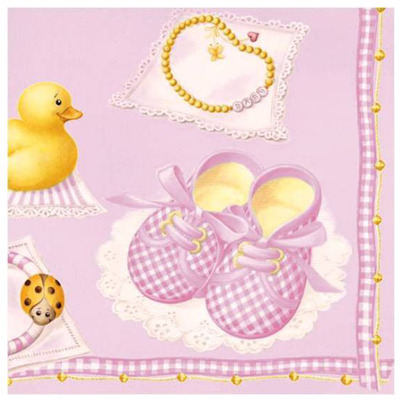 Serviettes papier Baby chic girl - Lot de 20