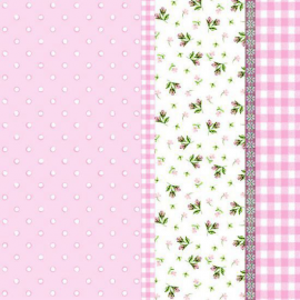 Serviettes papier rose patch liberty - Lot de 20
