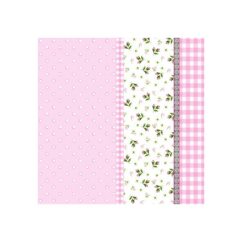 decoration de table serviettes papier rose liberty. Black Bedroom Furniture Sets. Home Design Ideas