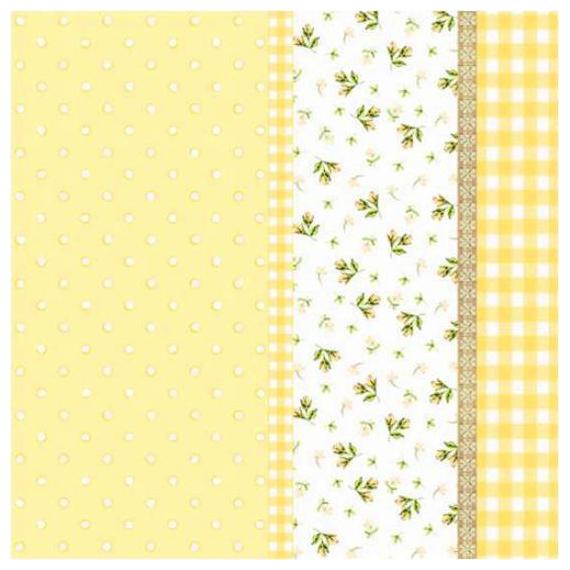 Serviettes papier jaune patch liberty - Lot de 20