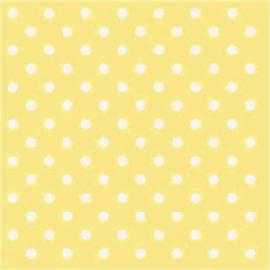 Serviettes papier jaune pois blancs - Lot de 20