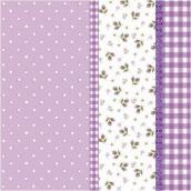 Serviettes papier mauve patch liberty - Lot de 20