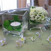 Vase verre carré médium