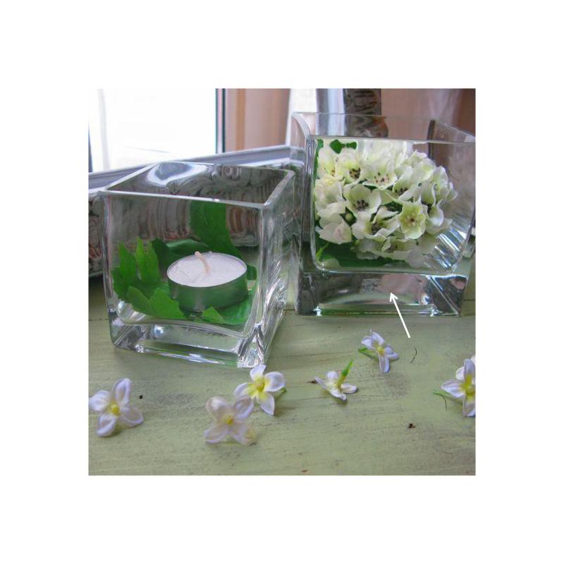 Vase verre carr m dium decoration table for Set de table carre