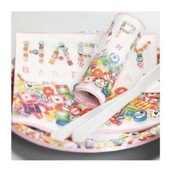 Serviettes papier Sweet Birthday - Lot de 20