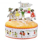 Coffret décoration gâteau les bons enfants - bandeau de gâteau et figurines