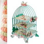 Serviteur cage perles et fleurs