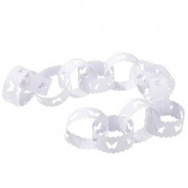 Guirlande anneaux papier festonnés décor papillons