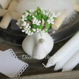 d co fleurs et feuilles pour table d corer le bonheur. Black Bedroom Furniture Sets. Home Design Ideas