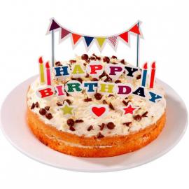 Set decoration gâteau happy birthday pop color