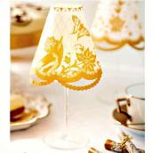 Photophore abat jour jolie table gold - Set de 6