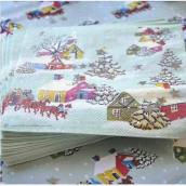 Serviettes papier Noel rétro - Lot de 20