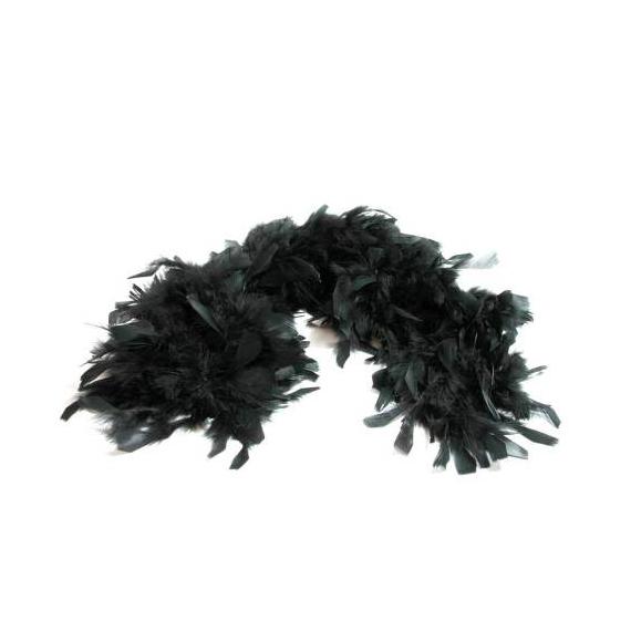 Boa de plumes noir
