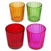 Set de 4 photophores cannelés couleurs