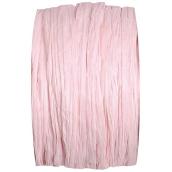 Bobine raphia papier rose dragée