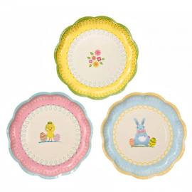 Assiettes joyeuses Pâques