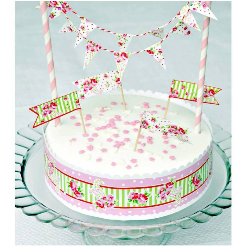 decoration anniversaire set decoration g teaux sweet floral. Black Bedroom Furniture Sets. Home Design Ideas