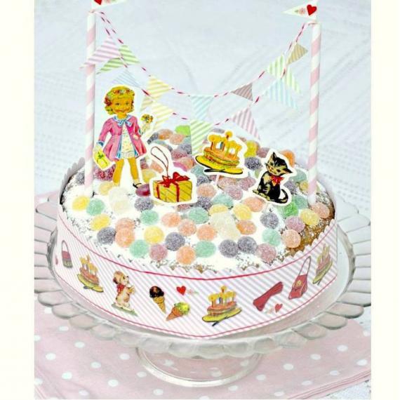 Set décoration gâteaux pretty dolly