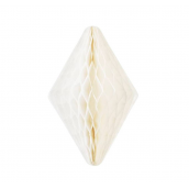 Décoration cristal papier blanc - 30 cm