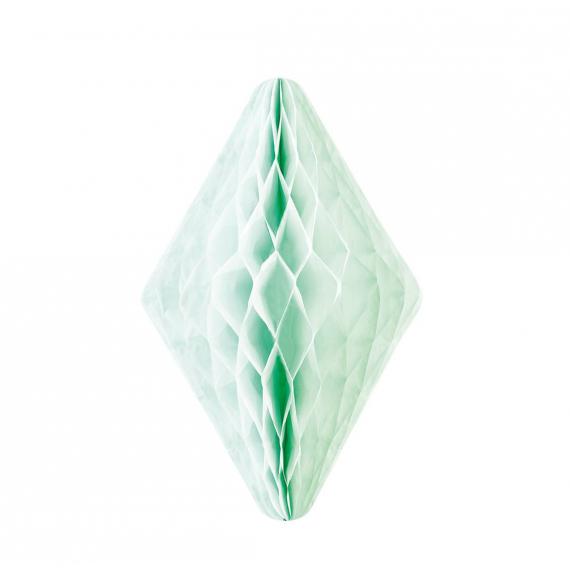 Décoration cristal papier vert - 30 cm