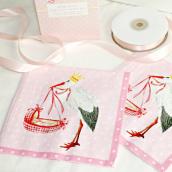 Serviettes papier Naissance rose - Lot de 20 serviettes
