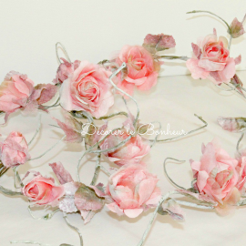 Guirlande de roses vintage pink