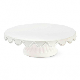 Cakestand simple céramique feston