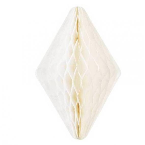 Décoration cristal papier blanc - 50 cm