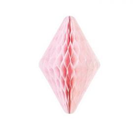 Décoration cristal papier rose - 30 cm
