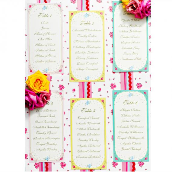 Invitations et enveloppes vintage floral - Lot de 10
