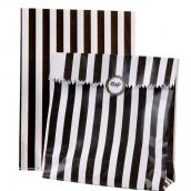 Sachets confiserie rayures noires