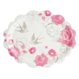 Plats romantique roses - Lot de 5