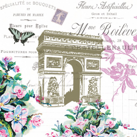 Serviettes Triomphe rétro à Paris - Lot de 20