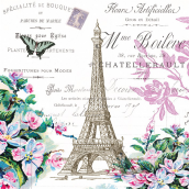 Serviettes Eiffel rétro à Paris - Lot de 20