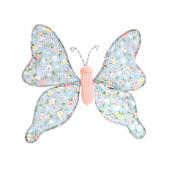 Grand papillon clip love liberty bleu
