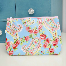 Trousse maquillage toile florale