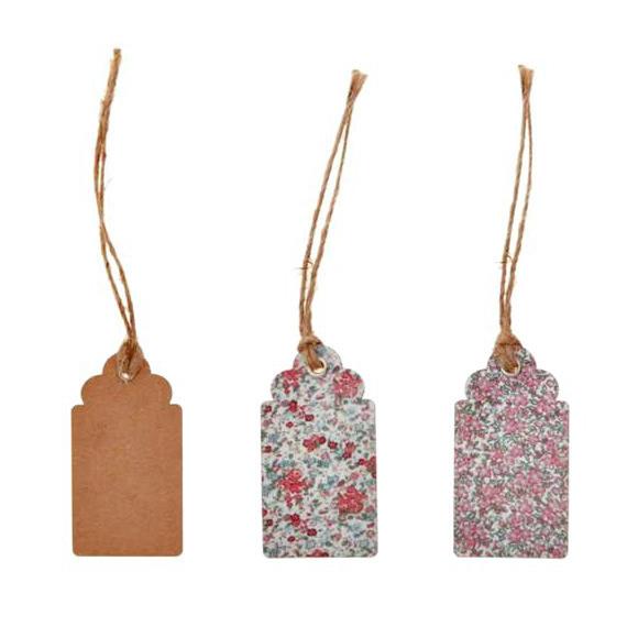 Etiquettes vintage floral liberty