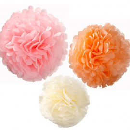 Pompoms assortis pastel