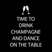 Serviettes cocktail drink champagne - Lot de 20