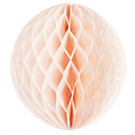 boule papier rose pêche - 25 cm