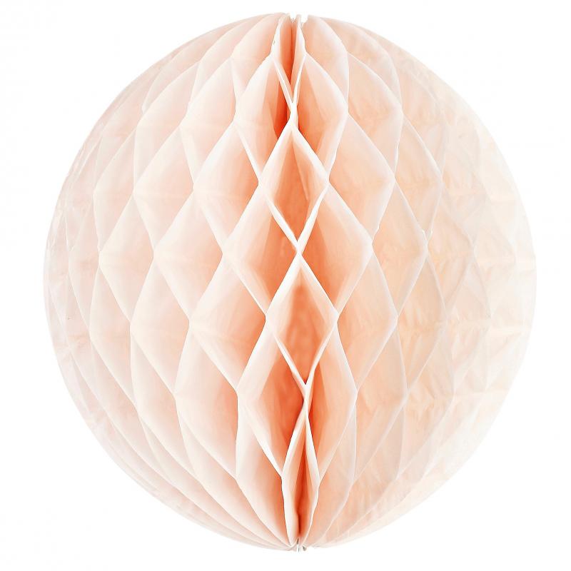Decoration de salle boule papier rose p che for Boule de papier deco